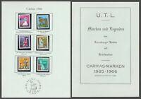Nr. 740 - 745 Luxemburg Caritas1966 mit Album U.T.L  MÄRCHEN