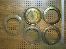 5- Vintage Metal Stove Pipe Round Cover & Trim Rings