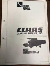 Claas Dominator 106-56 Combine Repair Manual   Service Workshop Shop Manual