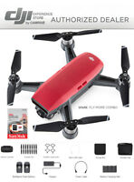 DJI Spark Fly More Combo enhanced bundle Drone RED includes 32GB memory Card