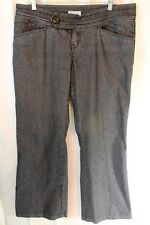 "Denim Trouser Jeans sz 14 Dark Wash Cotton Stretch Flare Low Rise 31"" inseam"