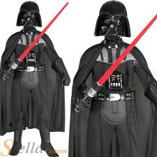 Boys Deluxe Darth Vader Costume Star Wars Fancy Dress Child Outfit