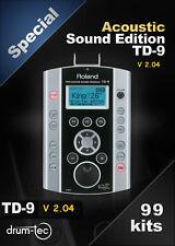Roland TD-9 Mise à jour de la version V1 vers la version V2.04