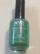 NYC LONG WEARING NAIL POLISH IN TUDOR CITY TEAL TURQUOISE GREEN CREME LACQUER