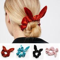 Velvet Bowknot Scrunchies Elastic Hair Rings Scrunchy Ponytail Holder Hair Band
