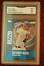 GRADED BASEBALL CARD 2013 TOPPS CHASING THE DREAM ANTHONY RIZZO MINT 9