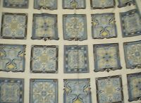 Grandeur 2 slate gray mosaic blocks Kaufman fabric