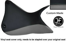 GREY & BLACK VINYL CUSTOM FITS DUCATI MULTISTRADA 1200 S 2010+ SEAT COVER ONLY