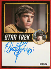 STAR TREK TOS WALTER KOENIG as Chekov, LIMITED EDITION Autograph Card