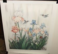 "CARMEL FORET ""CORAL AND WHITE IRISES III"" LIMITED EDITION COLOR LITHOGRAPH"