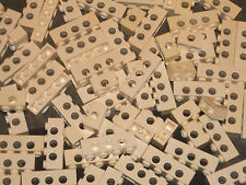 Technic Lego 30 x Studded Bricks / Beams (4x1 & 2x1 with Hole Mixed) WHITE