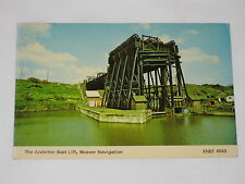 VINTAGE The Anderton Boat Lift, Weaver Navigation Postcard UK Water Front Boat