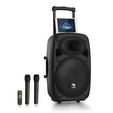 """Altavoz PA Activo Portátil Bluetooth 15"""" Equipo Microfonos USB/SD/MP3 -B-Stock"""