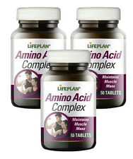 Lifeplan Amino Acid Complex 3 x 50 Tablets - Maintains Muscle Mass