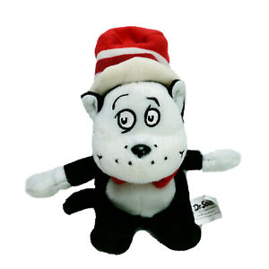 Dr Seuss Cat in the Hat Finger Puppet Plush Soft Stuffed Toy Washed Clean 16cm
