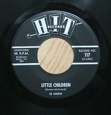 CLARA WILSON b/w ED HARDIN No Soul British 45rpm Little Children b/w My Guy HEAR