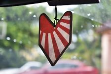 x1 JDM JAPANESE RISING SUN YOUNG LEAF BADGE CAR AIR FRESHENERS BLACK ICE SCENT