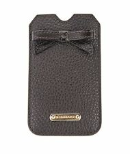 BURBERRY Chocolate Bow Detailing Iphone 4/4s Case 100% Calf Grain Leather
