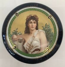 A Very Fine Vienna Austrian Original 19C Porcelain Round Hand Painted Large Box