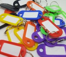 Key Ring Tags*Mixed Colours*Various quantities available* Pack of 100