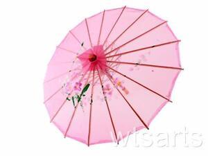 Medium Chinese Floral Parasol Geisha Umbrella - 83cm Dia