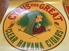 Vintage Cyrus The Great Havana Cigar Old Tobacco Store Advertising Decal Sign