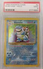 Pokemon TCG Blastoise Holo Base Set 2/102 Rare Mint 9 PSA Graded
