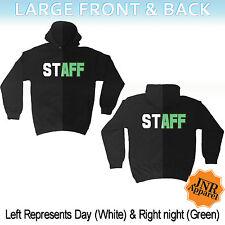 Staff Glow In The Dark HOODIE Club Uniform Workwear Bar Man birthday gift
