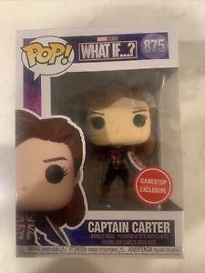 Funko POP! What If…? Captain Carter #875 Gamestop Exclusive - In Hand