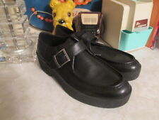 Vagabond Womens Boots Low Ankle EU 41 US 10.5 / 11 Black Leather Monk Strap