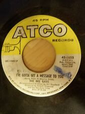 Bee Gees I've Gotta Get a Message to You/Kitty Can 45 Vinyl Record