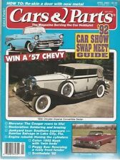 CARS and PARTS magazine April 1992 with 57 Chevy, 61 Olds, 52 Nash, 32 Chrysler