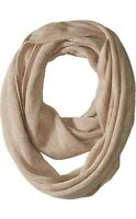 Calvin Klein Women's Basic Knit Infinity Loop Scarf Heathered Almond New $44