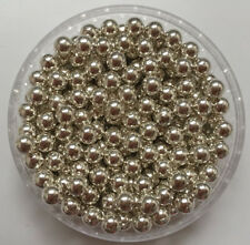 Wholesale New DIY 4-10mm No Hole ABS Round Metal Acrylic Beads