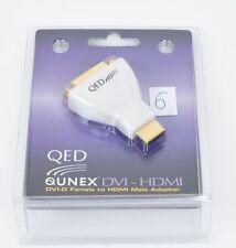 QED Qunex DVI-HDMI EAN 3756 Adapter DVI-D weibl.-HDMI männl. UVP war € 45,00