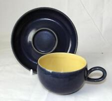 Denby Pottery Cottage Blue Pattern Cup and Saucer made in Stoneware