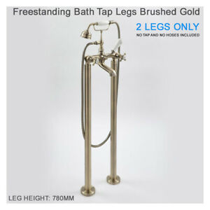 Milano Elizabeth Freestanding Bath Tap Legs Brushed Gold Standing 2 Legs only