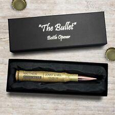 Engraved Bullet Bottle Opener 50 Caliber Groomsman Gift Best Man Groom