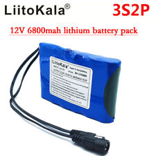 DC 12V 6800mAh DC18650 Portable Li-Ion Rechargeable Polymer Power Battery Pack