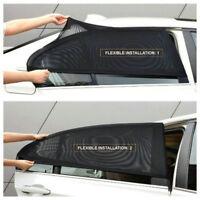 2x Car Window Sun Shade Cover Sunshade Curtain UV Protection Shield Visor Mesh