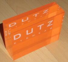 reklame aufsteller brillen optik laden werbung acryl block dutz eyewear top deko