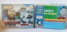 Thomas & Friends 5 Wood Puzzles and Full Steam Ahead 3 PC Percale Twin Sheet Set