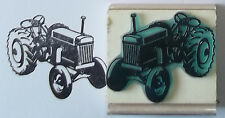 Old Fashioned Tractor rubber stamp by Amazing Arts farm country