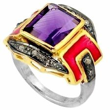 Amethyst Handmade Natural Fine Gemstone Rings
