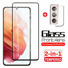 For Samsung Galaxy S21 Ultra S21+ HD-Clear Tempered Glass+Camera Lens Protector