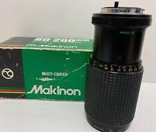 Vintage Makinon Multi-Coated 80-200mm F:4.5 Camera Lens in Original Box RARE