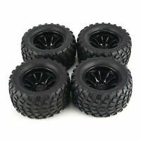 4 Pcs 130mm Wheel Rim Tires for 1/10 Monster Truck Racing RC Car Accessories AU