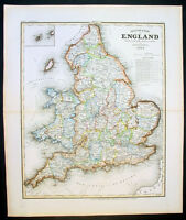 1844 Meyer Antique Map of England
