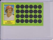 1981 TOPPS SCRATCH OFF MIKE SCHMIDT CARD #60 ~ MULTIPLES AVAILABLE ~  L@@K!!!