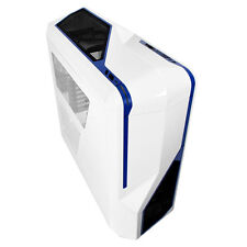 NZXT Phantom 410 Bianco Blu ATX PC CASE SIDE Window & ventole di raffreddamento CA-PH410-W2